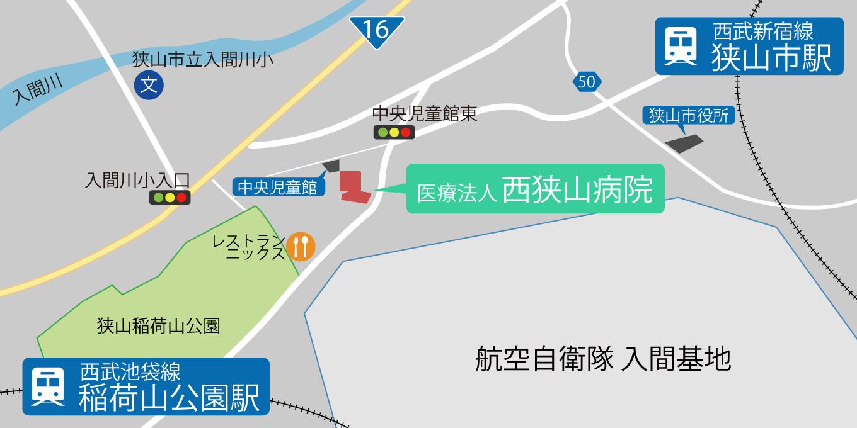 病院の詳細地図